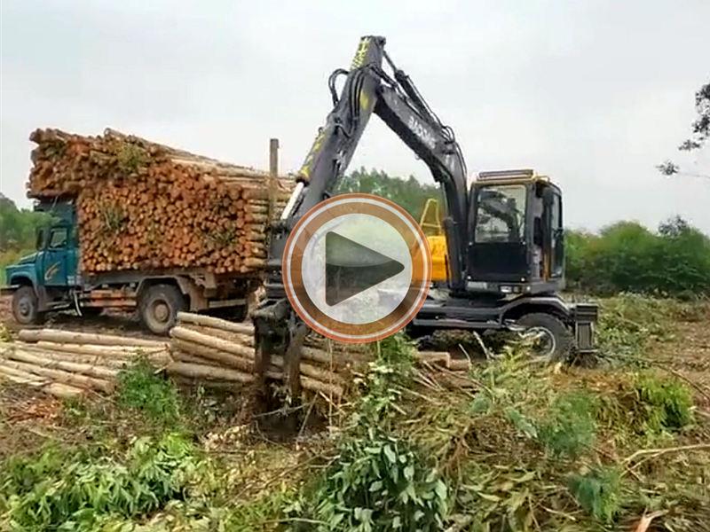广西抓木机宝鼎BD95抓木机视频