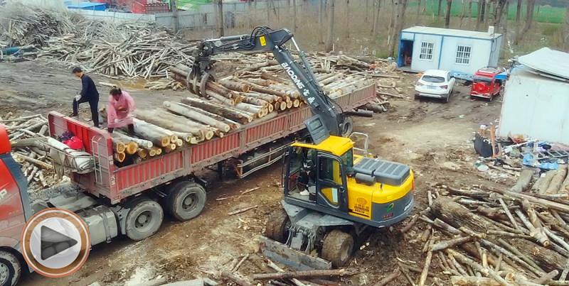 新款95抓木机工作视频展示介绍-宝鼎抓木机厂家