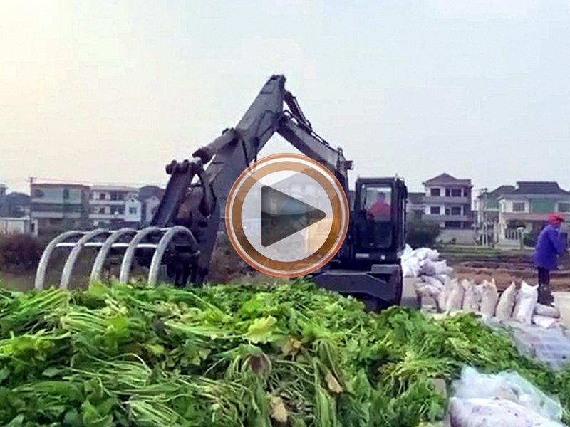 山东宝鼎定制型加长臂轮式抓料机型号-宝鼎抓料机生产厂家