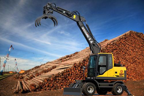轮式抓木机图解说设备-宝鼎BD95W-9B轮式抓木机型号产品竞争力介绍