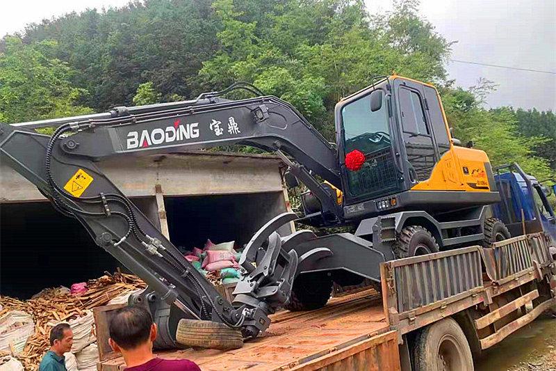 宝鼎抓木机厂家广西销售BD100轮式抓木机型号