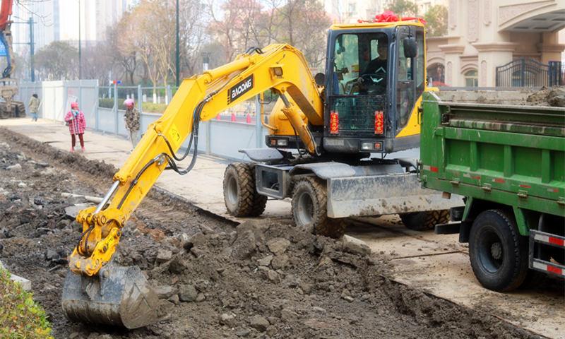 液压行走轮式挖掘机BD80W-9D型号-移动灵活使用高效