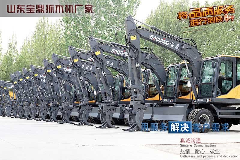 2021年4月山东宝鼎轮式挖掘机厂家各种型号销量提升单月历史
