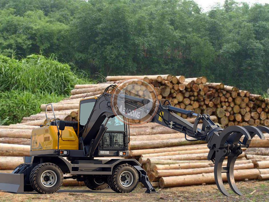 宝鼎95抓木机装车工作视频