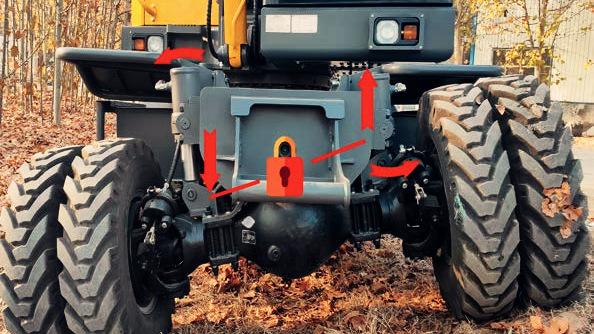 宝鼎80轮式挖掘机型号铰链式平衡系统优势解析