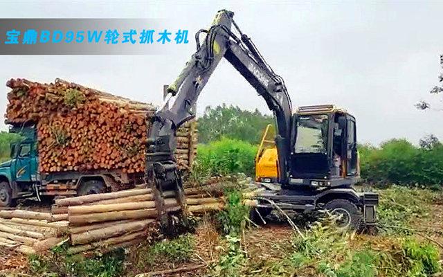 出租业者用户快看 木材市场多功能轮式抓木机推荐