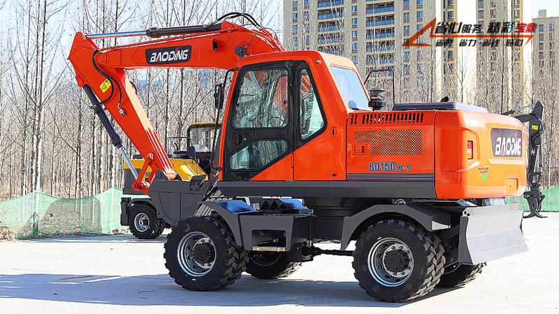 150轮式挖掘机型号-150轮挖设备-宝鼎轮挖高效率持久工作