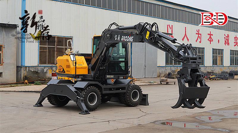 BD120W轮式新款抓木机型号采用电控泵系统性能显著提升