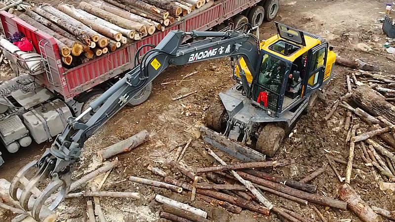 95抓木机多功能轮式抓装机设备-租赁业者与雇佣方机器设备处理神器