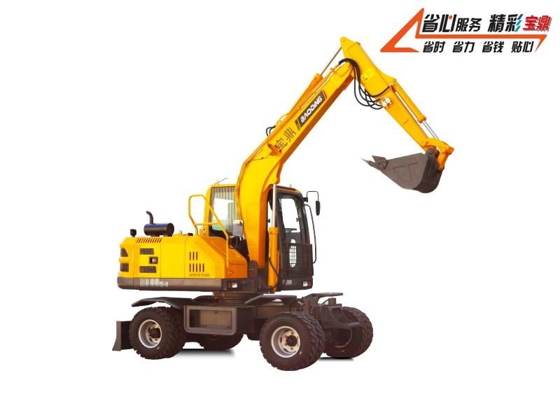 宝鼎BD80W-9D全液压轮式挖掘机
