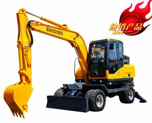 宝鼎小型轮式80-6挖掘机