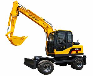 宝鼎小型轮式90-7挖掘机