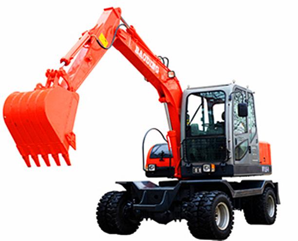 宝鼎小型轮式65-8挖掘机